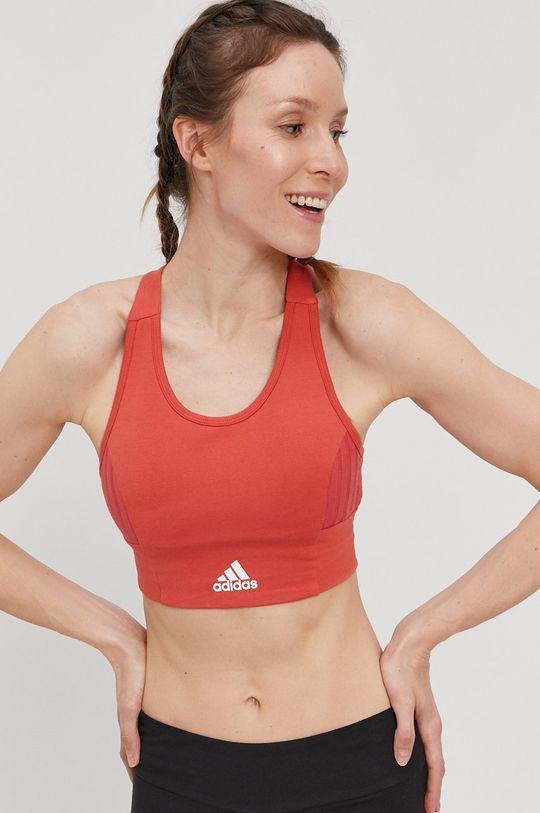 broskyňová adidas - Športová podprsenka Dámsky