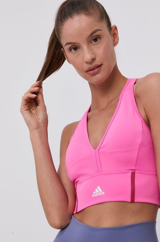 růžová adidas - Sportovní podprsenka