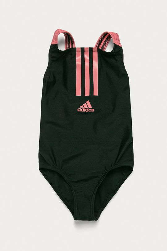 čierna adidas Performance - Detské plavky 98-170 cm Dievčenský