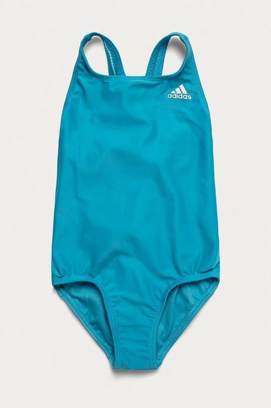 svetlomodrá adidas Performance - Detské plavky 92-170 cm Dievčenský