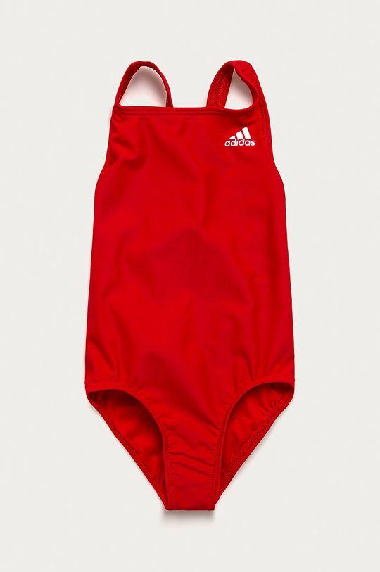 červená adidas Performance - Detské plavky Dievčenský