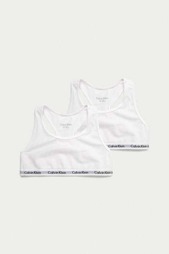 biały Calvin Klein Underwear - Biustonosz dziecięcy (2-pack) Dziewczęcy
