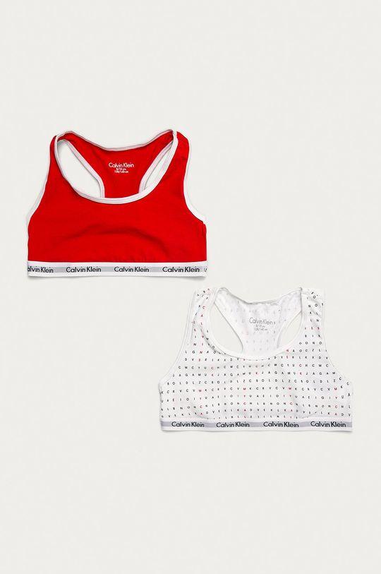 czerwony Calvin Klein Underwear - Biustonosz dziecięcy (2-pack) Dziewczęcy