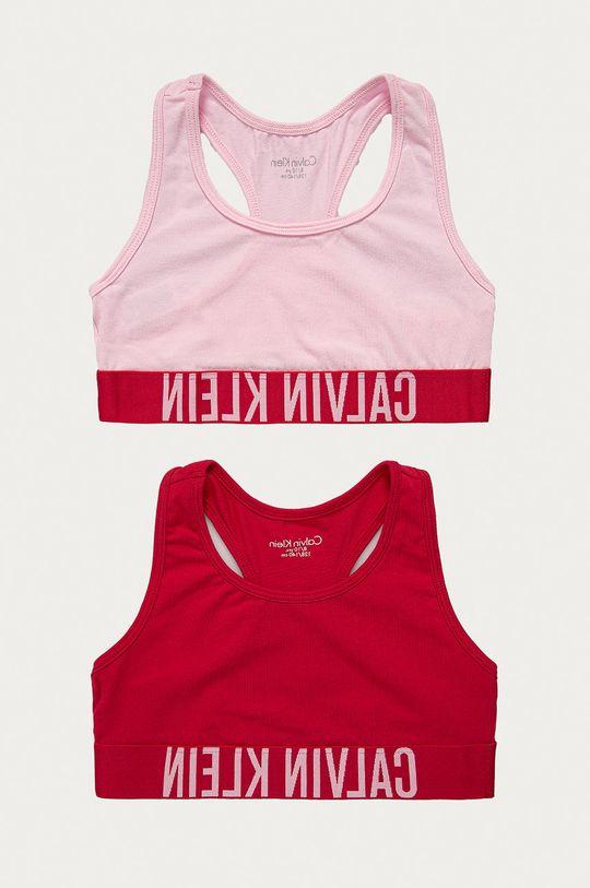 różowy Calvin Klein Underwear - Biustonosz sportowy dziecięcy (2-pack) 128-176 cm Dziewczęcy