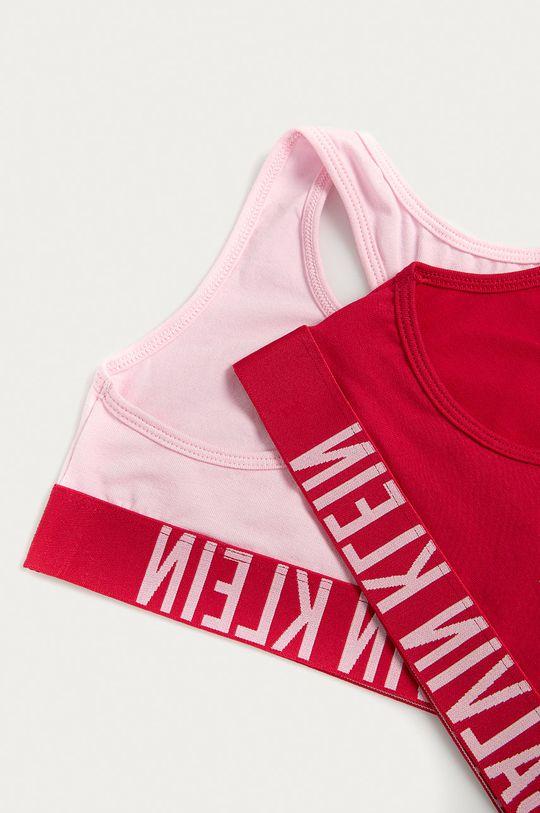 Calvin Klein Underwear - Biustonosz sportowy dziecięcy (2-pack) 128-176 cm różowy