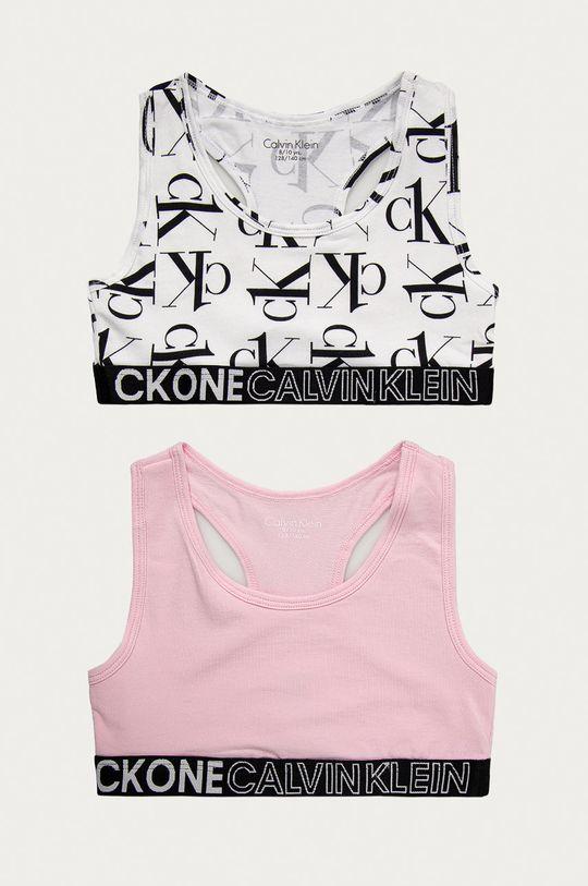 różowy Calvin Klein Underwear - Biustonosz sportowy dziecięcy (2-pack) Dziewczęcy