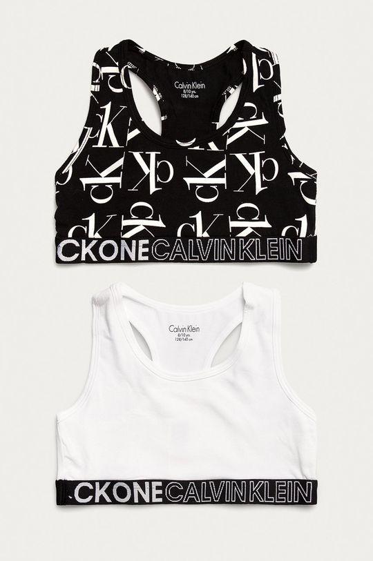 czarny Calvin Klein Underwear - Biustonosz sportowy dziecięcy (2-pack) Dziewczęcy
