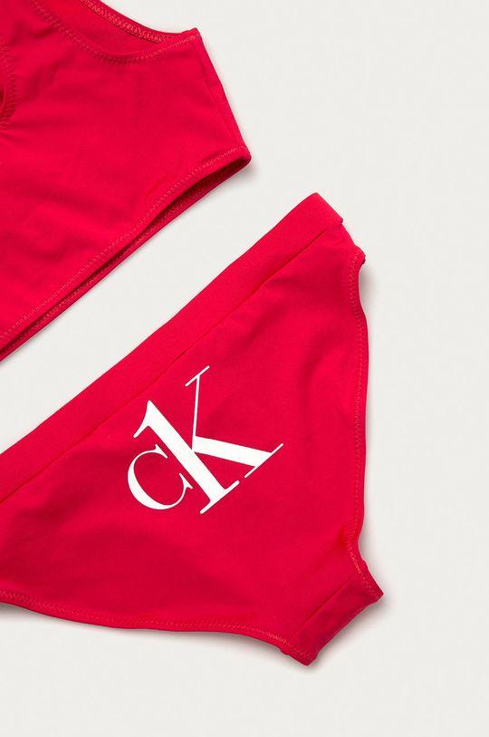 Calvin Klein - Strój kąpielowy dziecięcy 128-176 cm ostry różowy