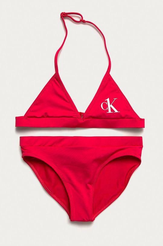ostry różowy Calvin Klein - Strój kąpielowy dziecięcy 128-176 cm Dziewczęcy