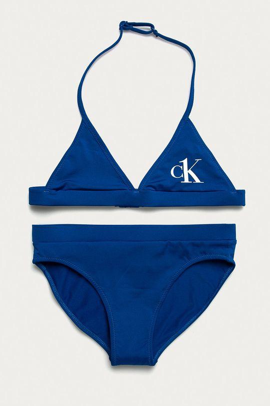 niebieski Calvin Klein - Strój kąpielowy dziecięcy 128-176 cm Dziewczęcy
