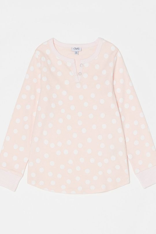 OVS - Piżama dziecięca pastelowy różowy