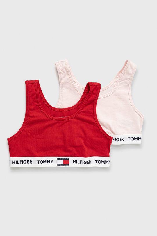 czerwony Tommy Hilfiger - Biustonosz dziecięcy (2-pack) Dziewczęcy