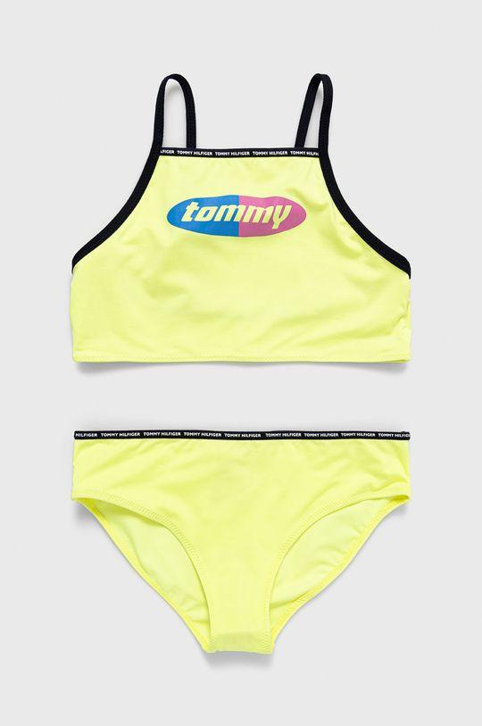 żółty Tommy Hilfiger - Strój kąpielowy dziecięcy 128-164 cm Dziewczęcy