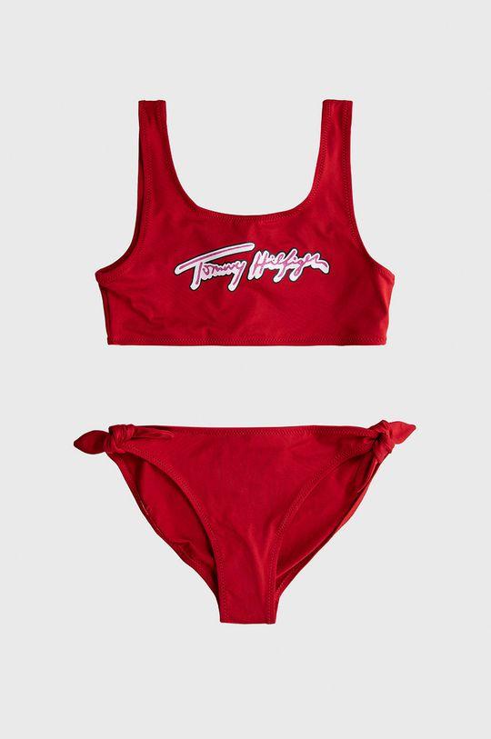 czerwony Tommy Hilfiger - Strój kąpielowy dziecięcy 128-164 cm Dziewczęcy