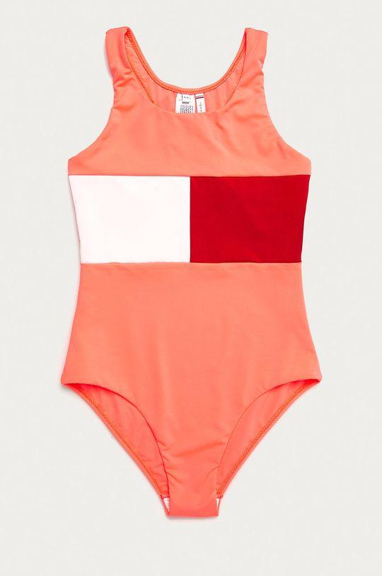 ostry różowy Tommy Hilfiger - Strój kąpielowy dziecięcy 128-164 cm Dziewczęcy