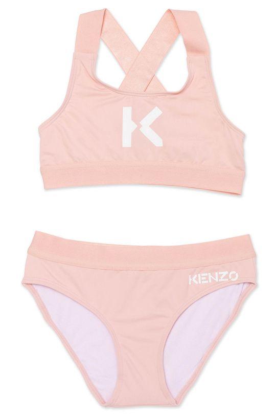 pastelová ružová KENZO KIDS - Detské plavky Dievčenský
