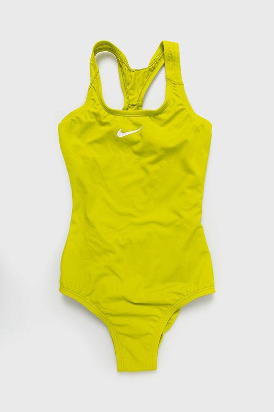 żółto - zielony Nike Kids - Strój kąpielowy dziecięcy 120-170 cm Dziewczęcy