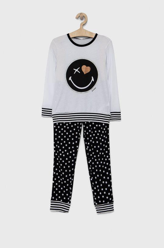 bílá United Colors of Benetton - Dětské pyžamo x Smiley World Dívčí