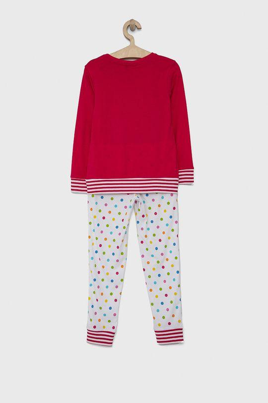 United Colors of Benetton - Dětské pyžamo x Smiley World ostrá růžová
