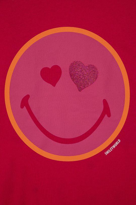 ostrá růžová United Colors of Benetton - Dětské pyžamo x Smiley World