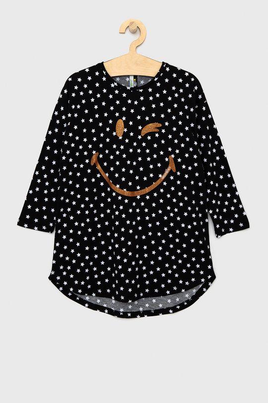 černá United Colors of Benetton - Dětská noční košile X Smiley Dívčí