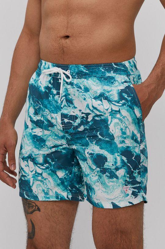 modrá Guess - Plavkové šortky Pánský