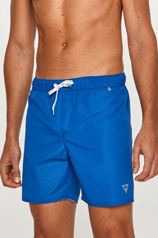 modrá Guess - Plavkové šortky Pánsky