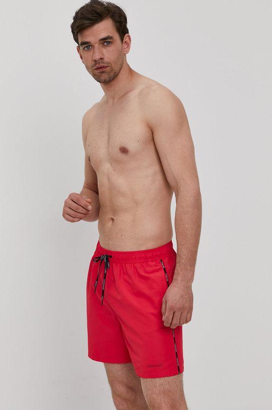 Calvin Klein - Szorty kąpielowe ostry różowy