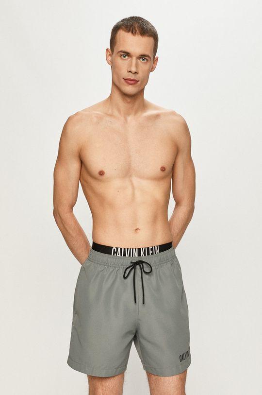 světle šedá Calvin Klein - Plavkové šortky Pánský