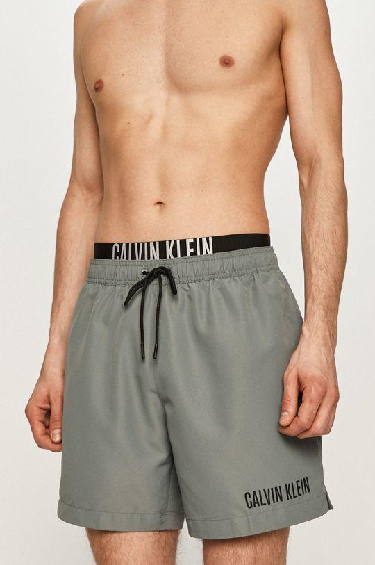 Calvin Klein - Plavkové šortky světle šedá