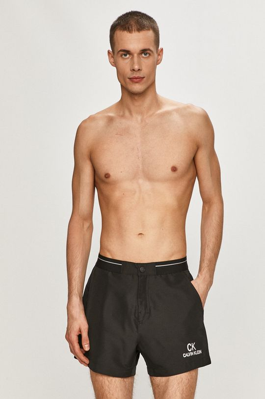 czarny Calvin Klein - Szorty kąpielowe Męski