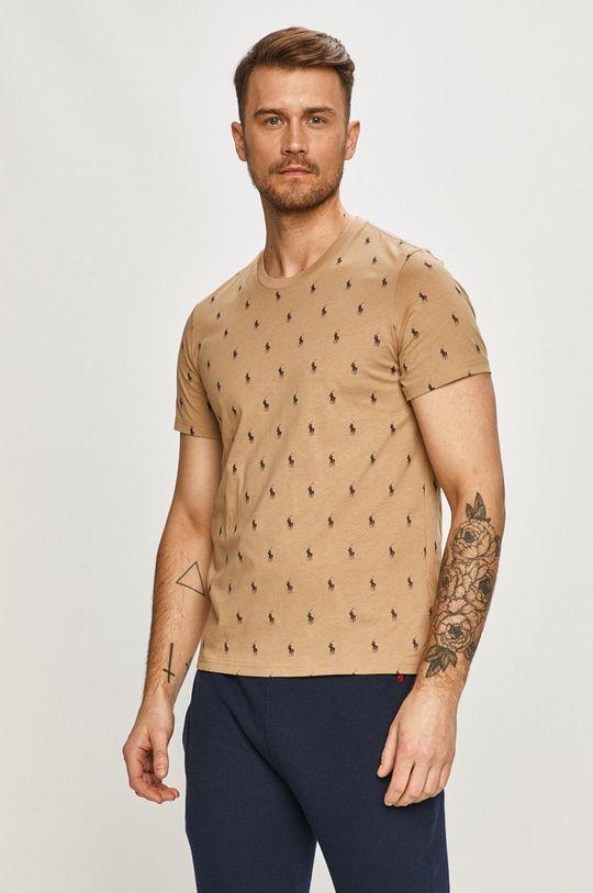 złoty brąz Polo Ralph Lauren - T-shirt Męski