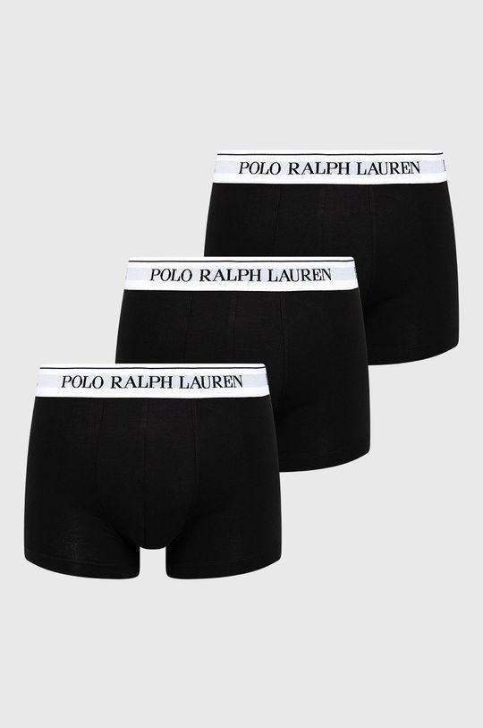 czarny Polo Ralph Lauren - Bokserki (3-pack) Męski