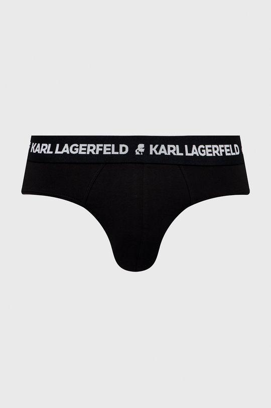 Karl Lagerfeld - Slipy (3-pack) czarny