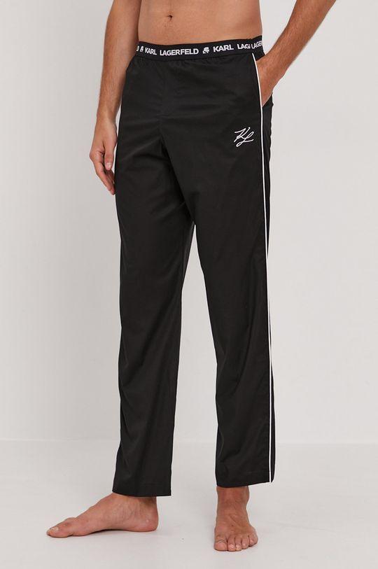 czarny Karl Lagerfeld - Spodnie piżamowe Męski