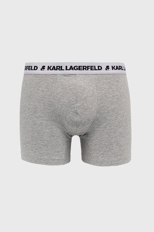 svetlosivá Karl Lagerfeld - Boxerky (3-pak) Pánsky