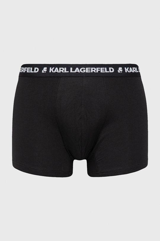 czarny Karl Lagerfeld - Bokserki (3-pack) Męski