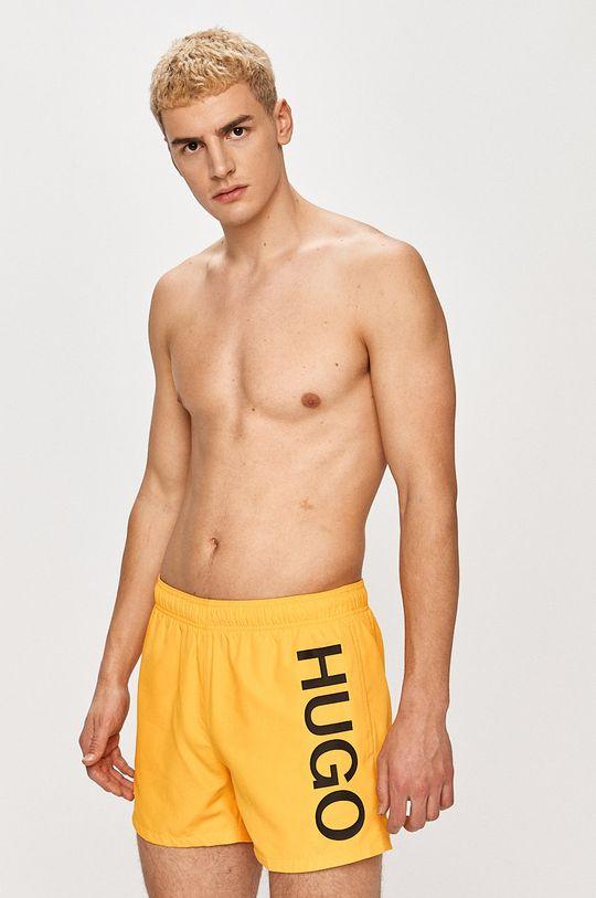 Hugo - Plavkové šortky žltá
