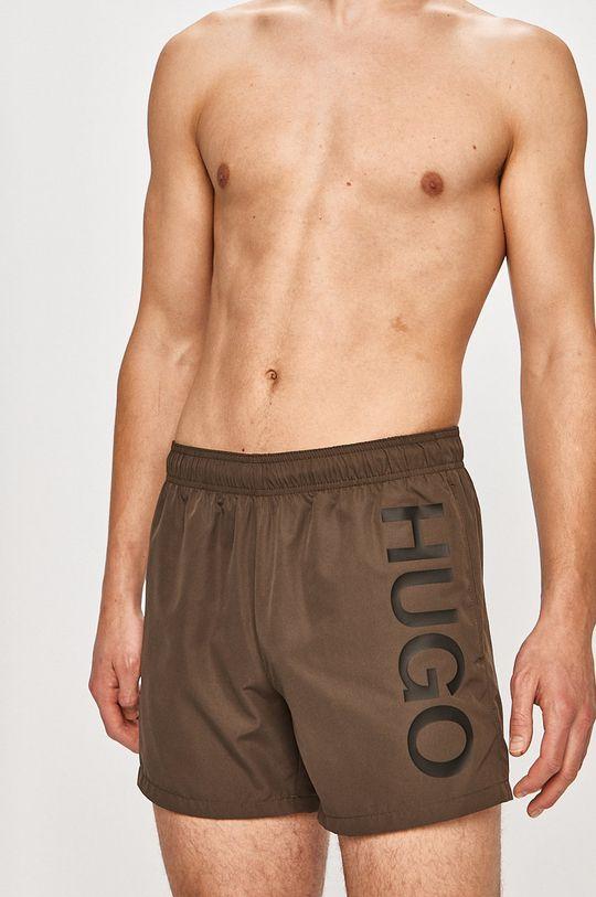 Hugo - Pantaloni scurti de baie verde inchis