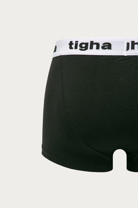 Tigha - Bokserki Rocky (3-pack) czarny