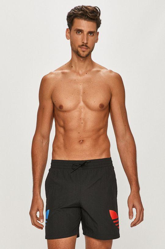 čierna adidas Originals - Plavkové šortky Pánsky