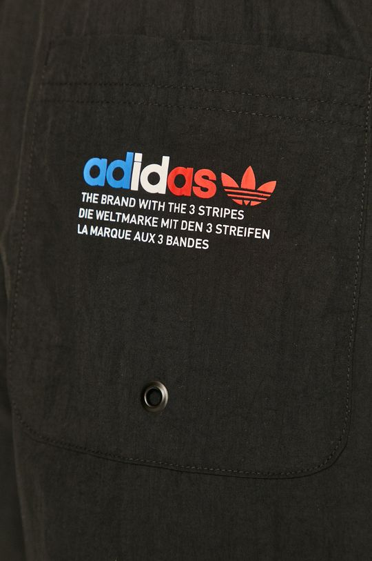 čierna adidas Originals - Plavkové šortky