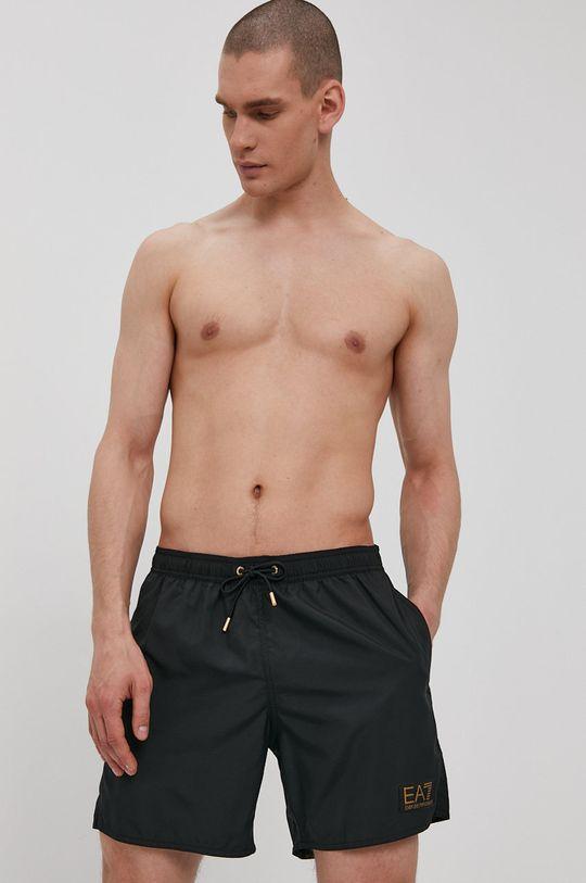 černá EA7 Emporio Armani - Plavkové šortky Pánský