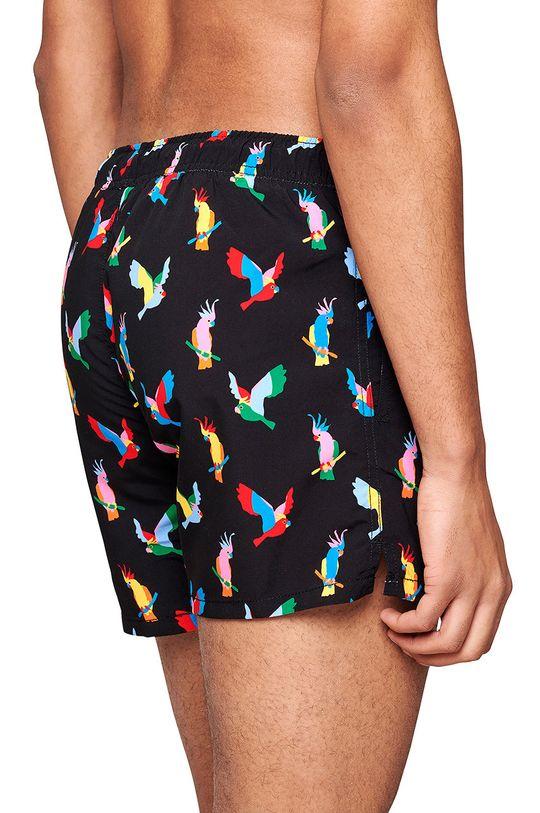 čierna Happy Socks - Plavkové šortky Cockatoo Pánsky