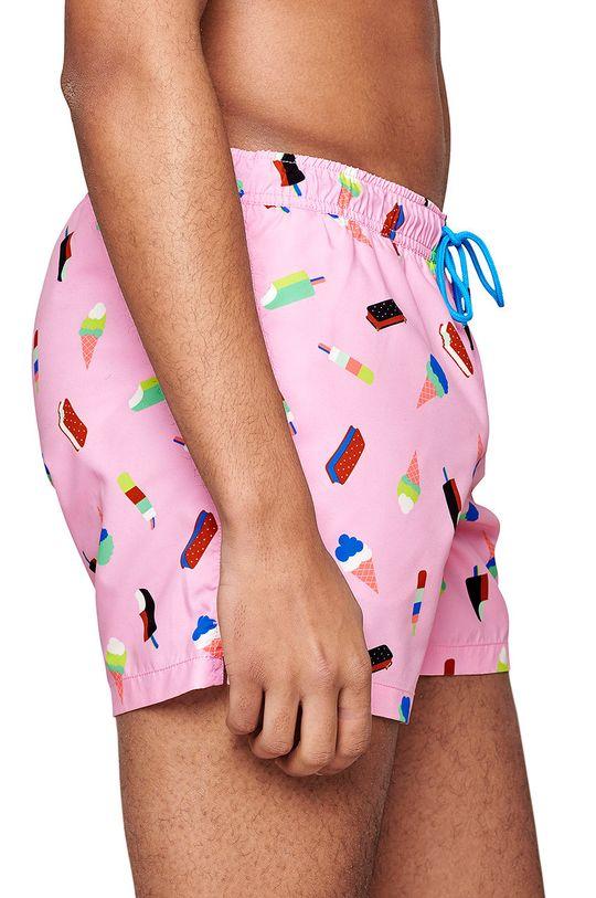 Happy Socks - Szorty kąpielowe Ice Cream różowy