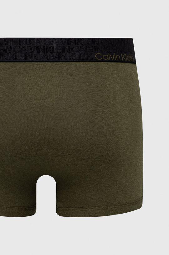 Calvin Klein Underwear - Boxerky hnedo zelená