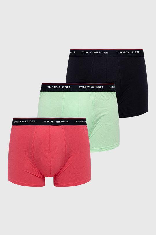 růžová Tommy Hilfiger - Boxerky (3-pack) Pánský