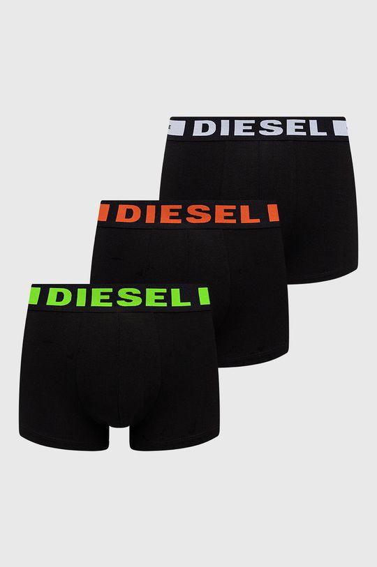 czarny Diesel - Bokserki (3-pack) Męski