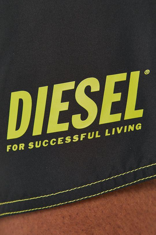 czarny Diesel - Szorty kąpielowe dwustronne