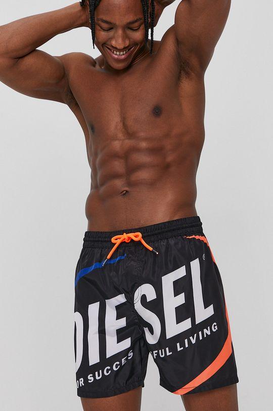 czarny Diesel - Szorty kąpielowe Męski